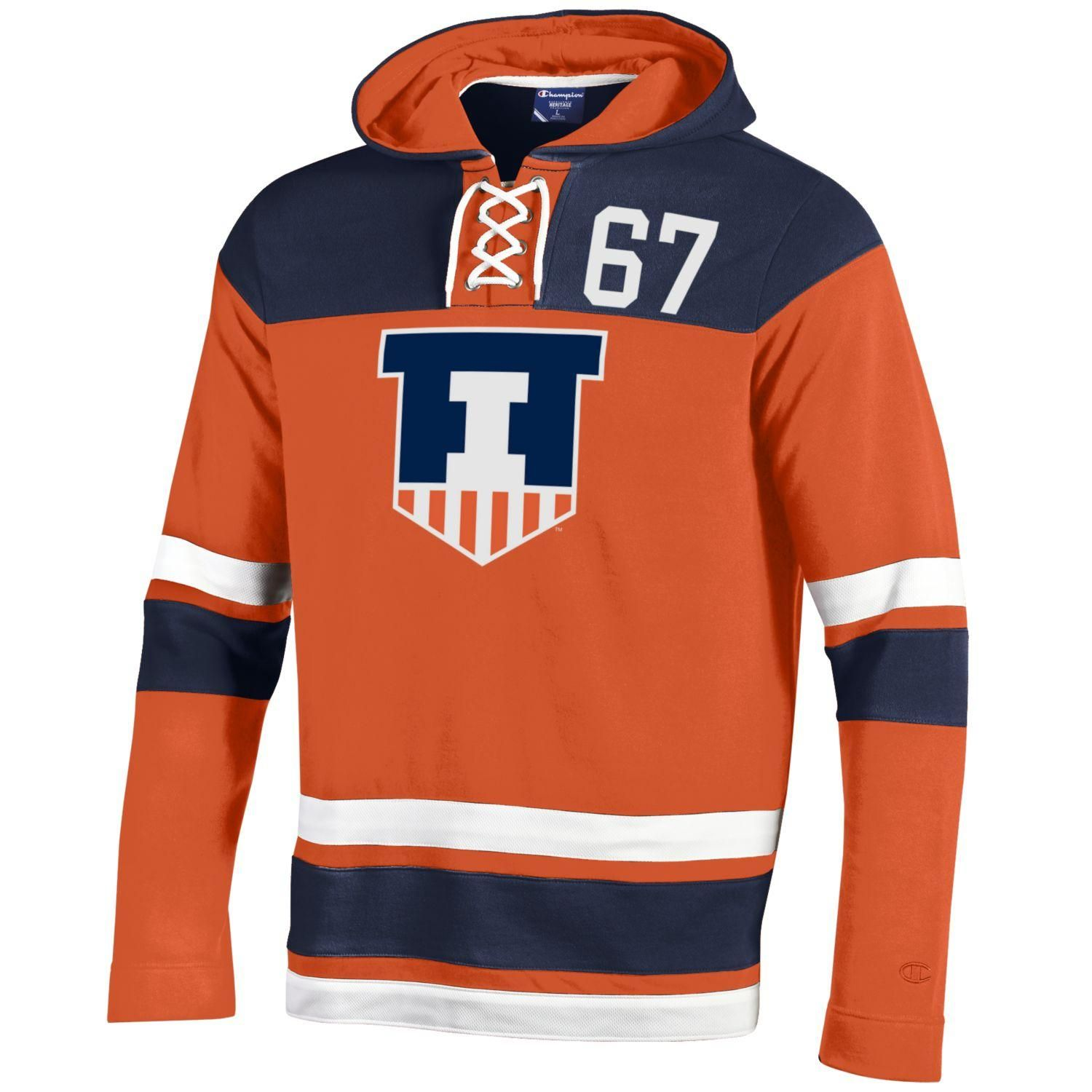 lowest price 21822 1ab5b ILLINI HERITAGE HOCKEY HOOD - orange | Hats/thing to buy ...