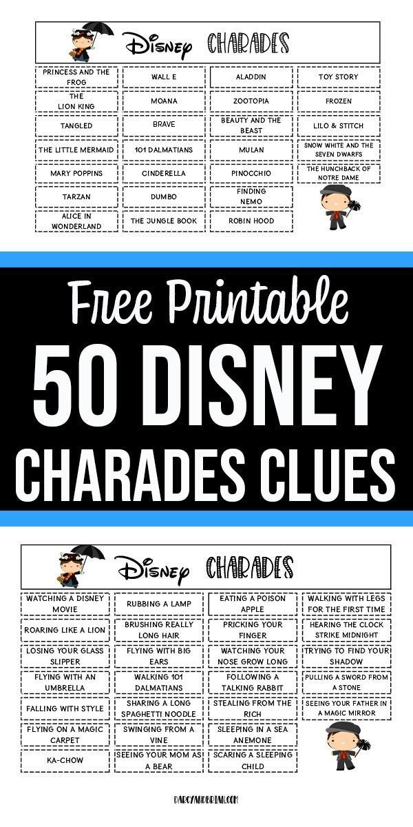 Photo of So fun! This Disney themed charades for kids printable game is a fun and easy fa…