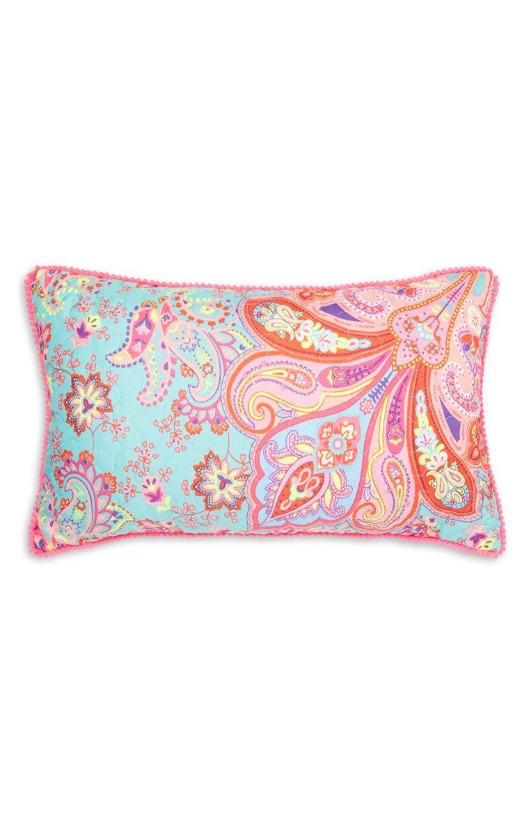 Primark - Bright Paisley Quilted Cushion   idées maison   Pinterest 0c9cba7f169b