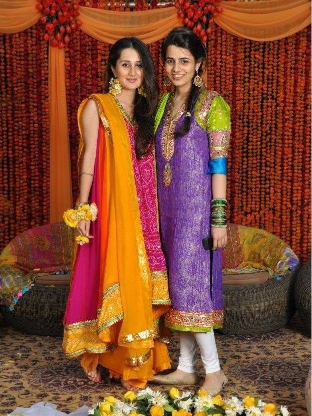 Brides sister dress on mehndi   Wedding dresses ...