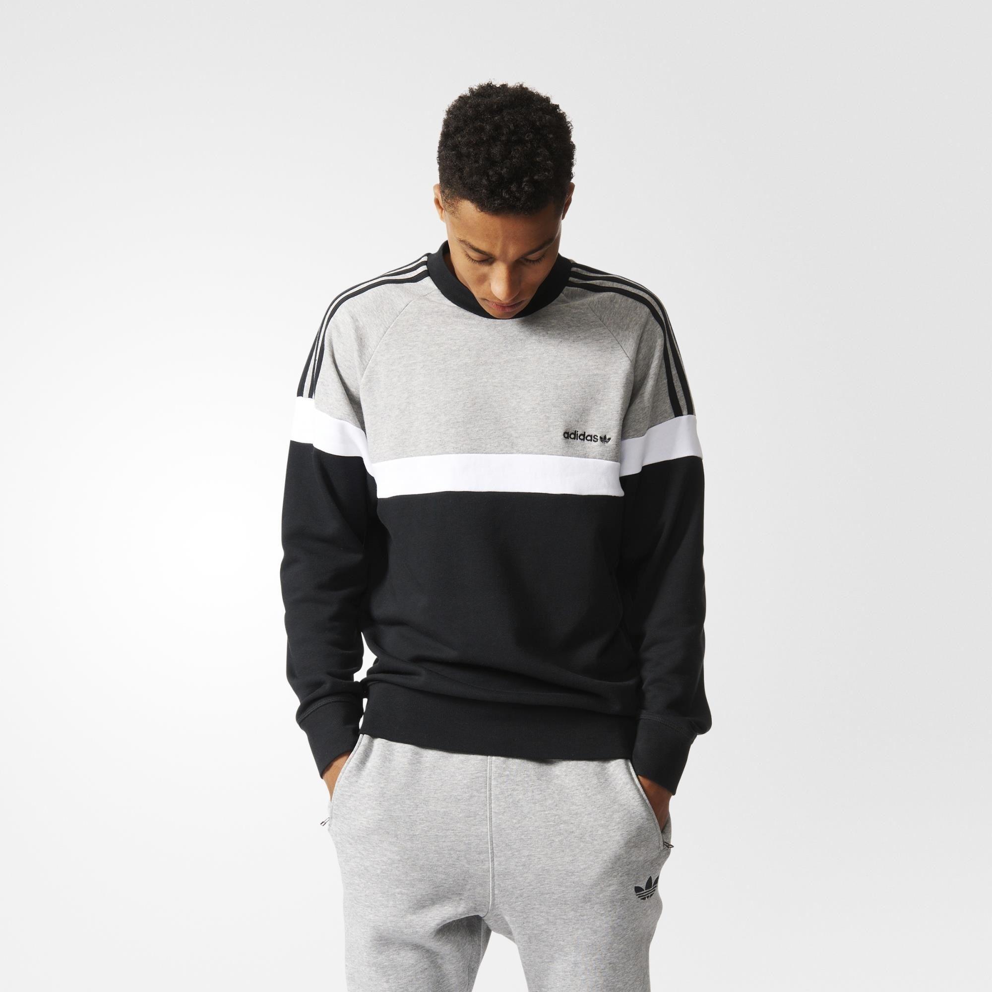 adidas originals mens itasca crew sweatshirt