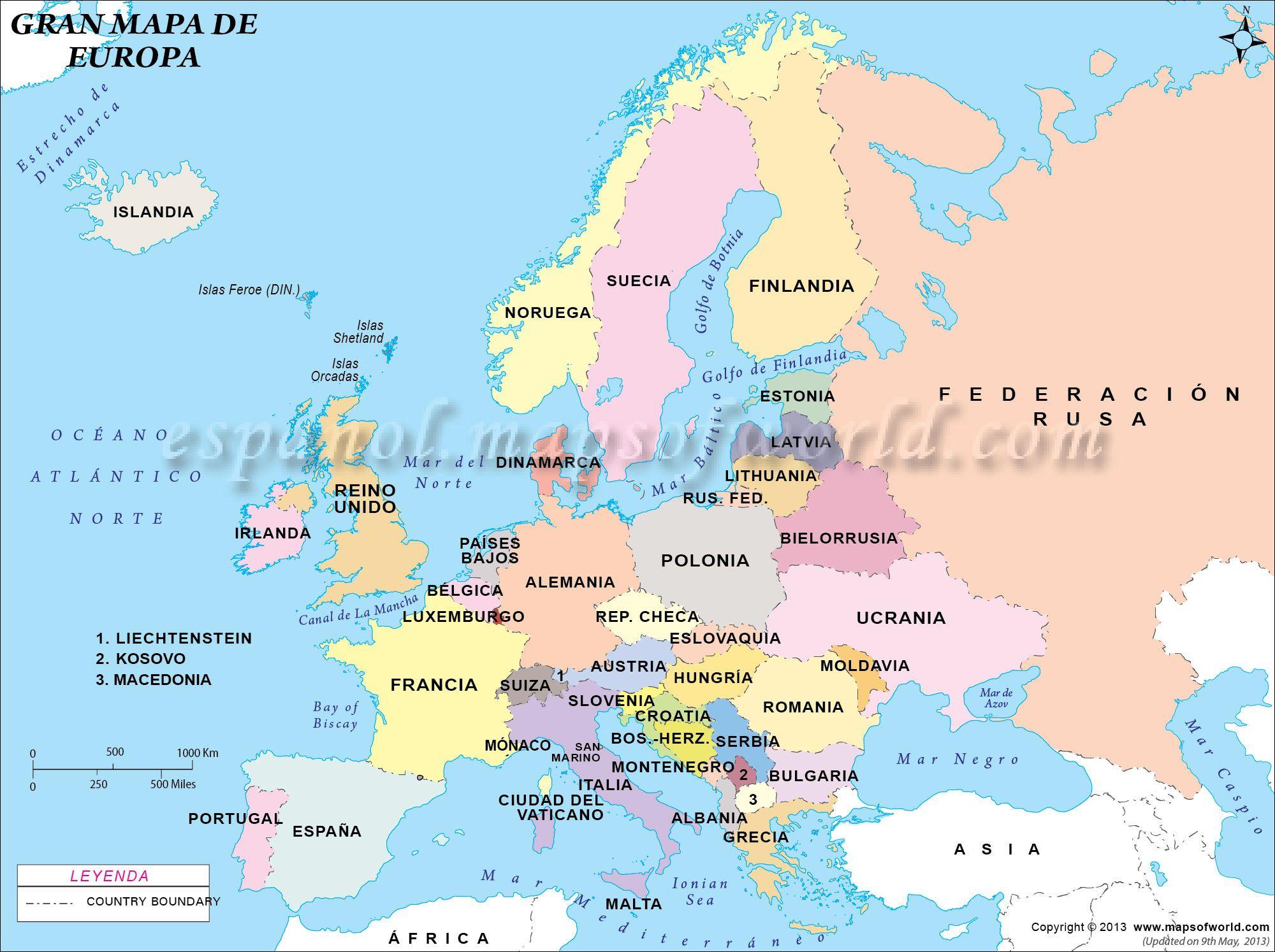 Mapa De Europa Grande Mapa Politico De Europa Mapa De Europa