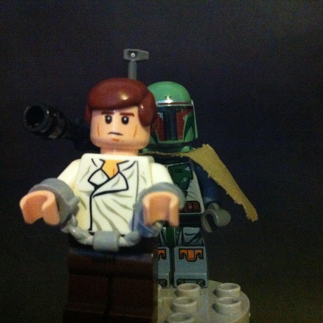 Han Solo & Boba Fett.  #legophotography #hansolo #starwars #lego #legostagram #legoinstagram #legostarwars #legostarwarscentral #instalego #bobafett by thedarksidecf28