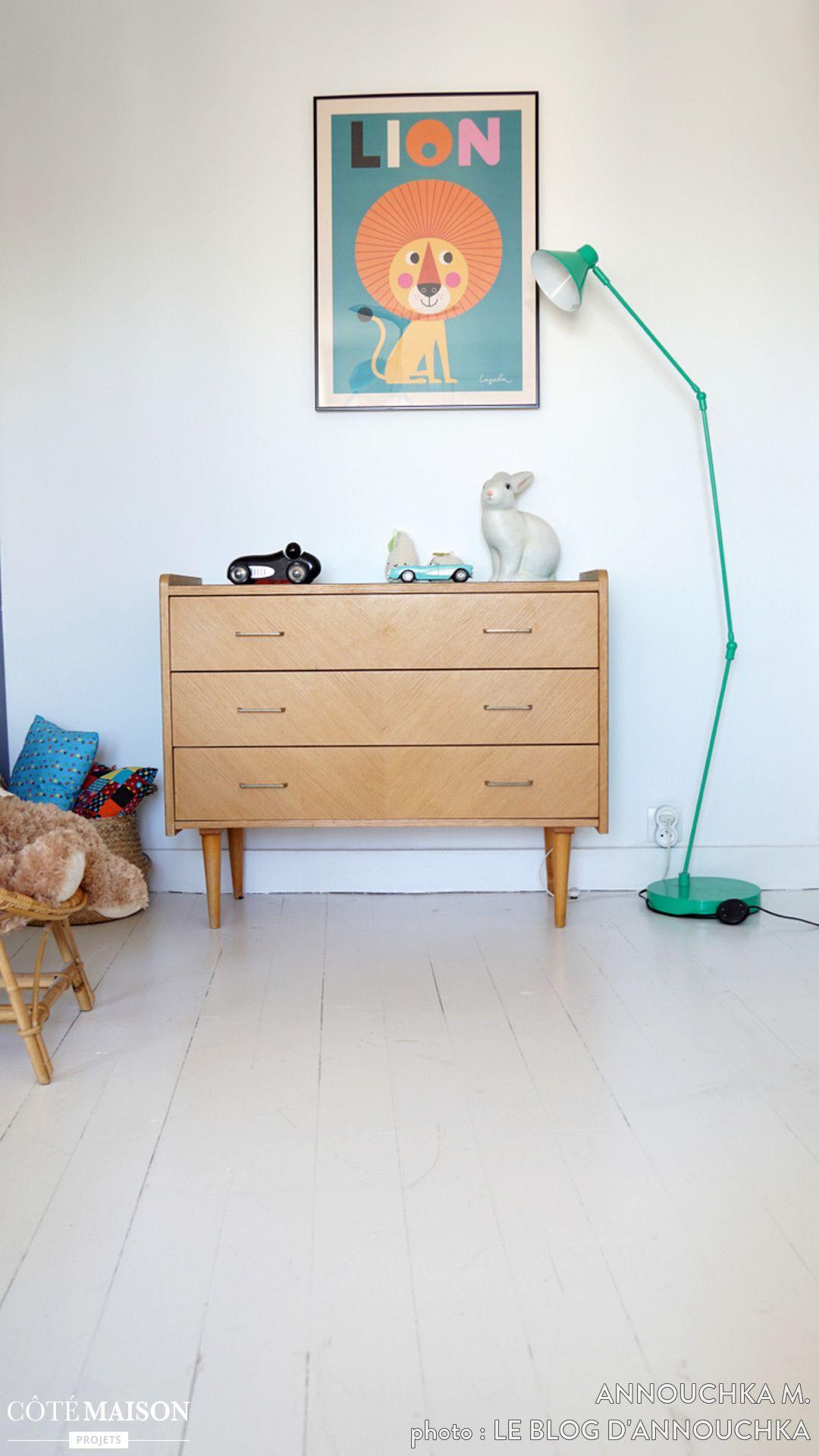 Une jolie chambre d enfant rétro et colorée