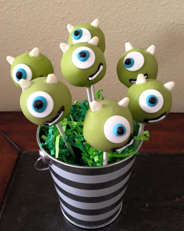 Monsters Inc Cake Pops Birthday Food Ideas For S