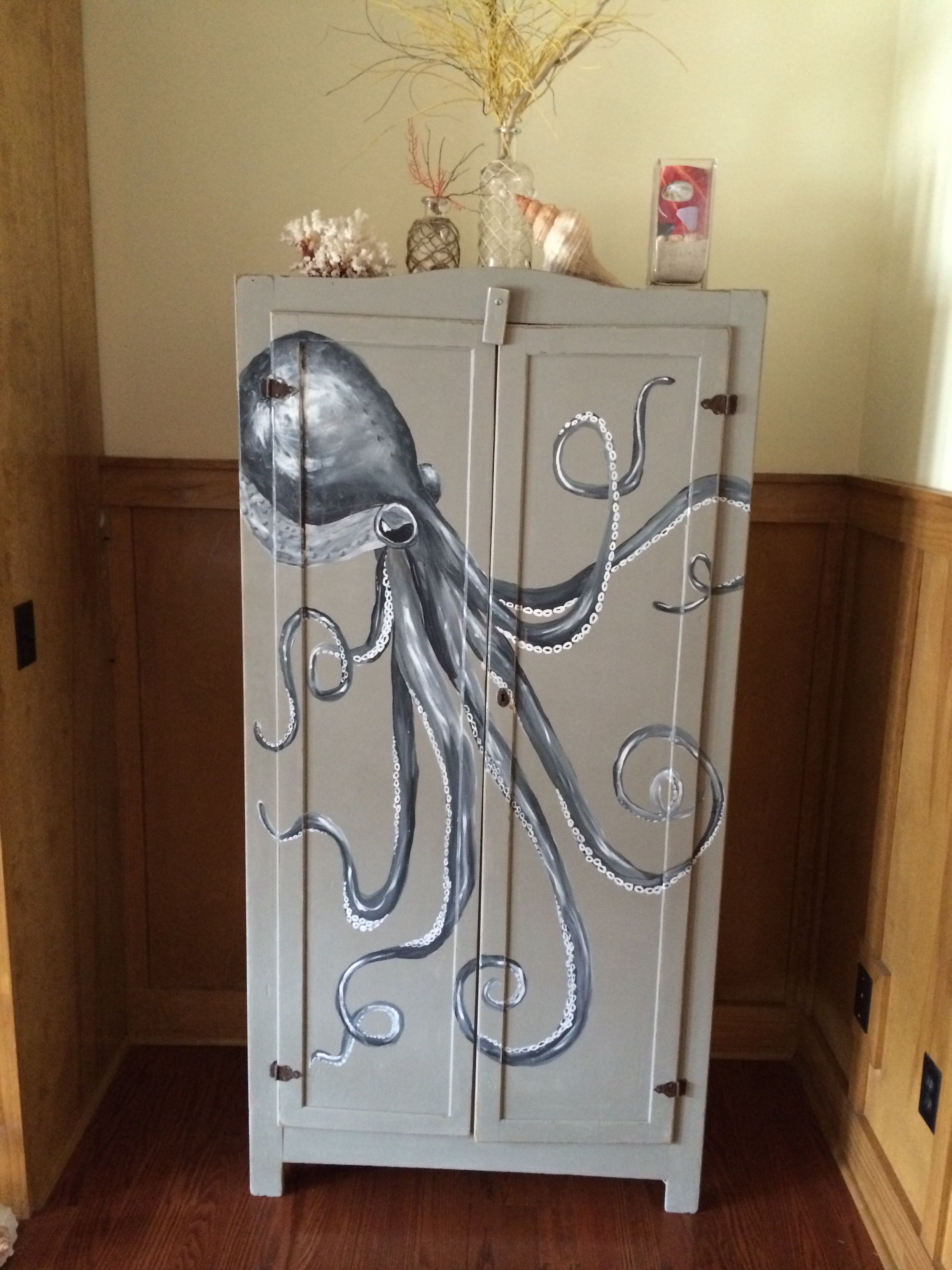 My new addition old oil cabinet refurbished purchased from ...
