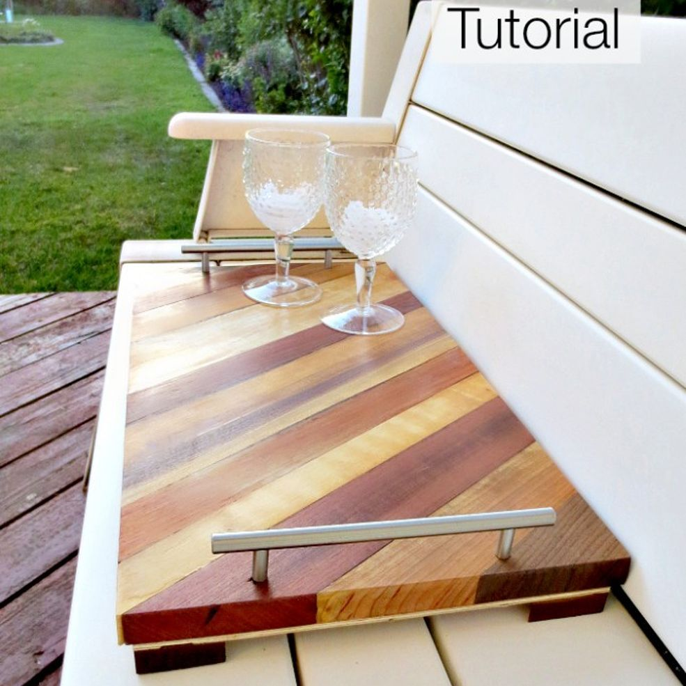 Woodwork Serving Tray Tutorial | Woodworking projects that ...