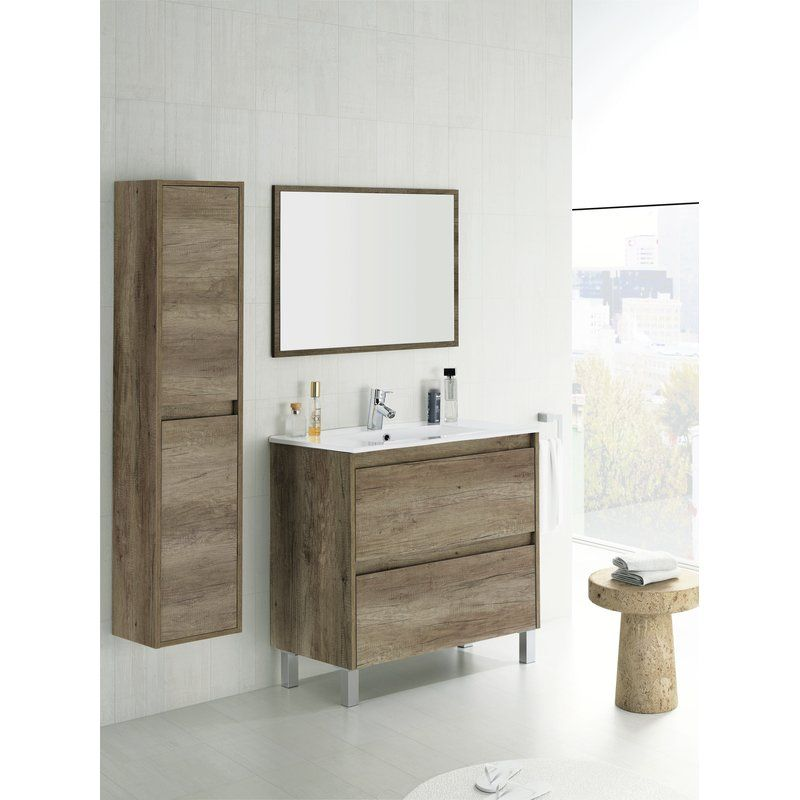 Bathroom fixtures · home etc dakota 80cm vanity unit with mirror reviews wayfair co uk