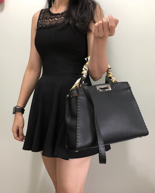 ad89a10f9c5a Handbag Review - Regular Medium Fendi Peekaboo (Selleria leather ...