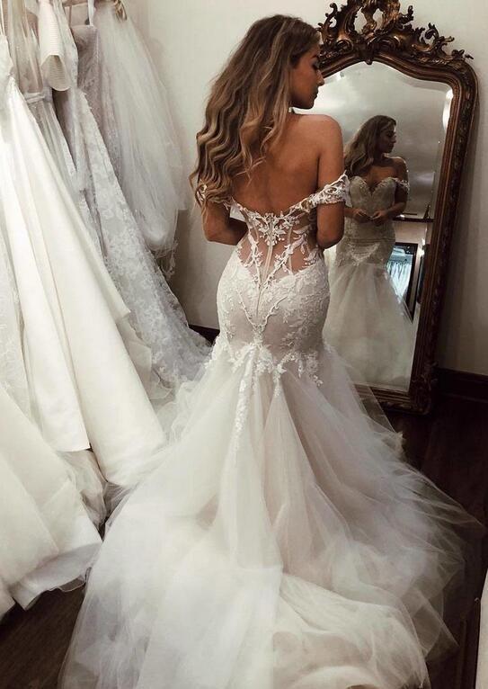 Modern Brautkleid Meerjungfrau Günstig | Hochzeitskleider ...
