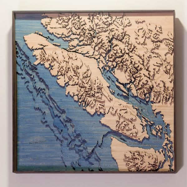 Vancouver island topographic wood map full art pinterest vancouver island topographic wood map full gumiabroncs Gallery