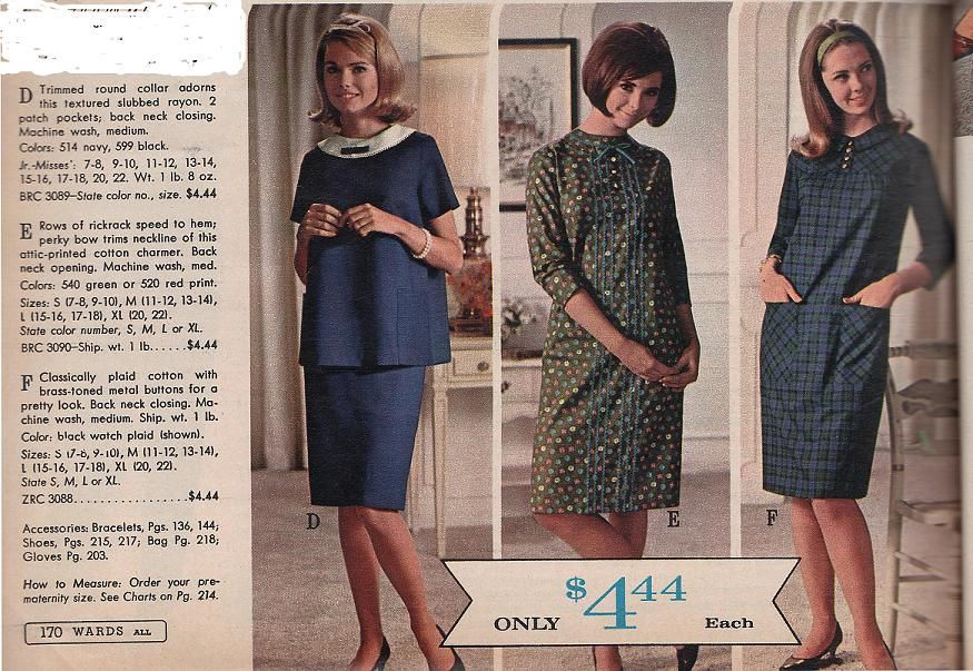 611ab282a65 The 1960s Maternity Clothes -- I remember my aunts wearing these ...