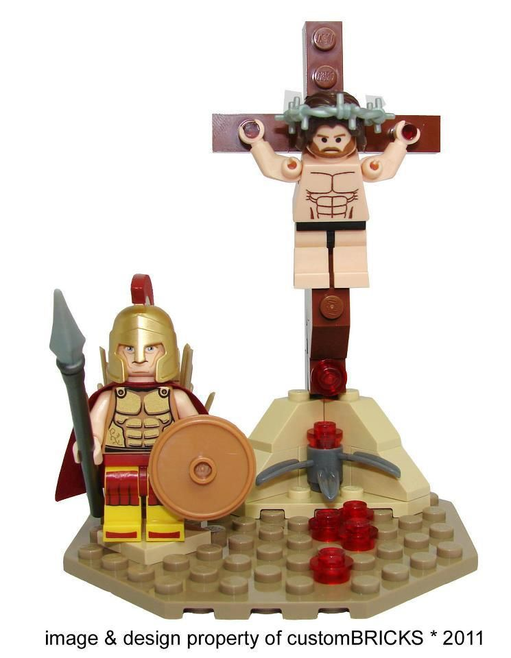 Image result for lego jesus on the cross