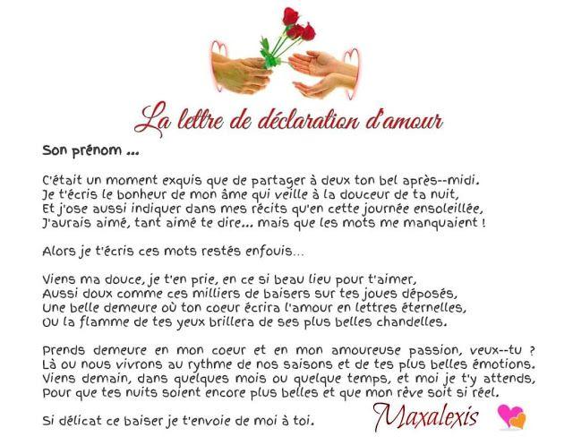 Anthologie Des Plus Belles Déclarations Damour Lettre
