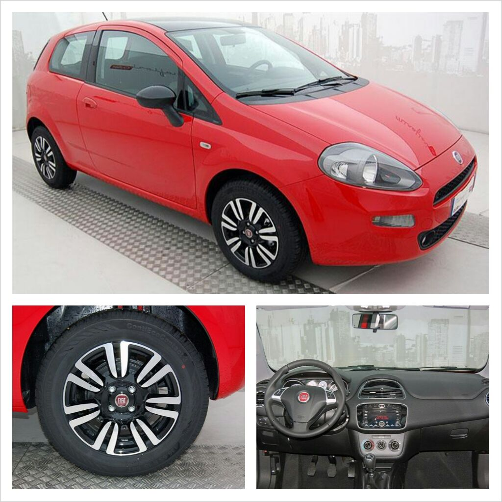 fiat punto 0.9 twinair turbo 85 cv, color rosso passionale, a