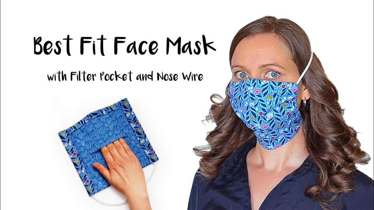 UPDATED Best Fit Face Mask with Filter Pocket Removable