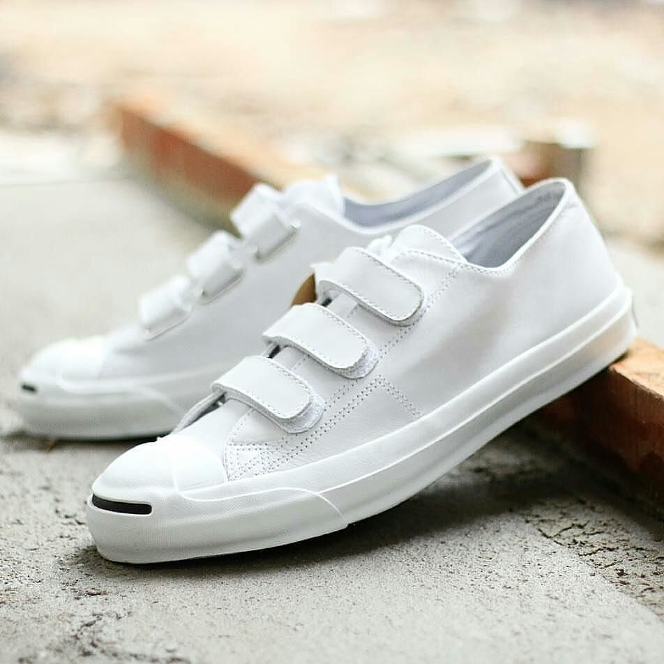 953c49ecb58383  CONVERSE JACK PURCELL VELCRO V3 LEATHER (JAPAN MARKET) Size   43 44 IDR500