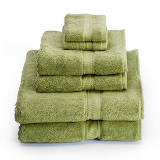 Color Green In A Bathroom These Towels
