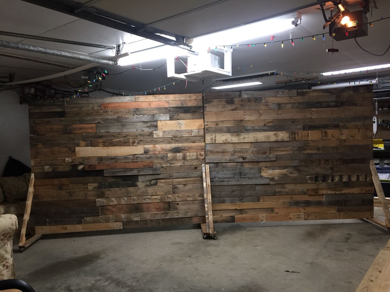 Portable Pallet Wall For Church Backdrop Diy Pallet Wall