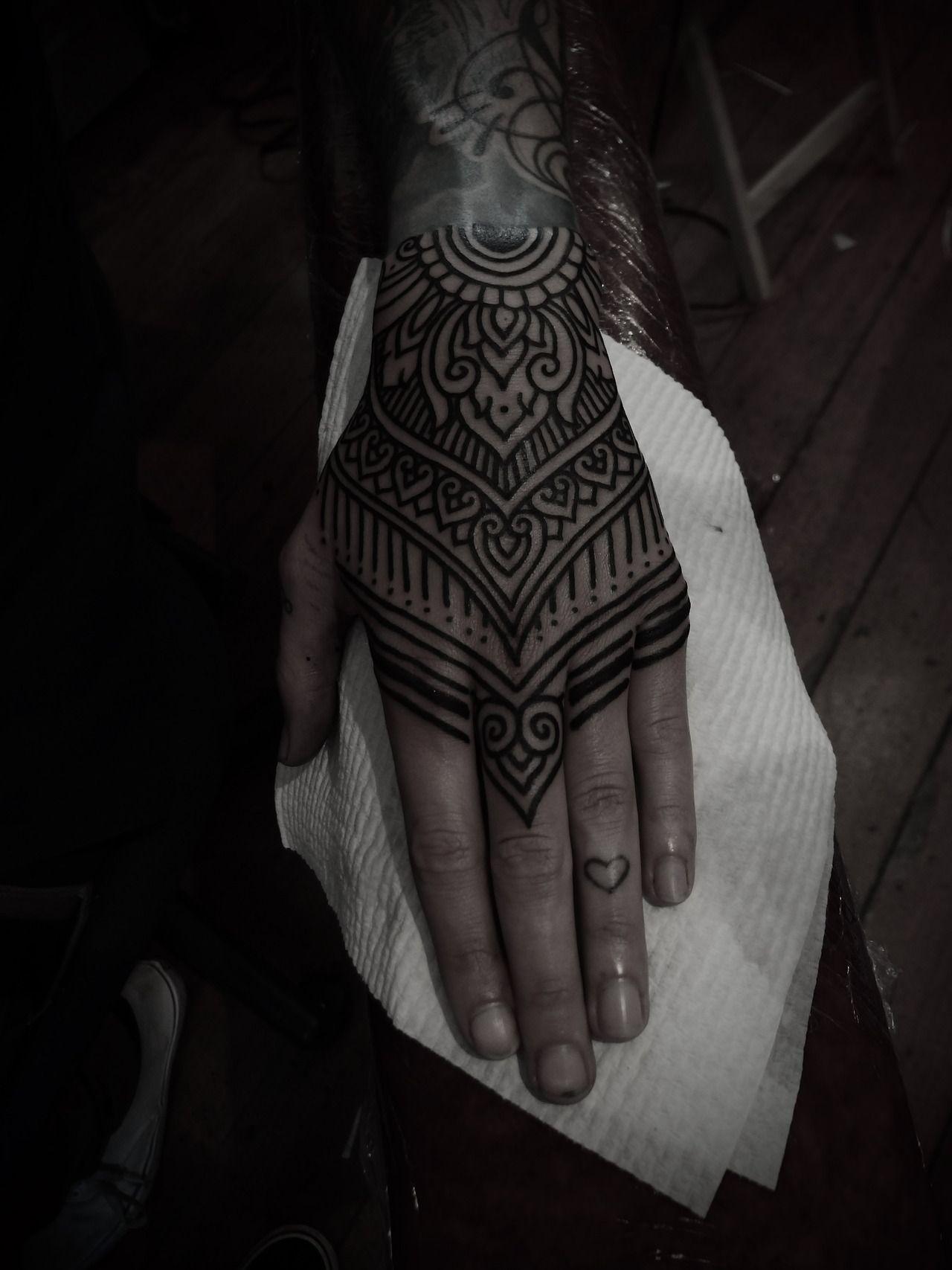 Cocoa Blush Mandala Hand Tattoos Body Art Tattoos Hand Tattoos