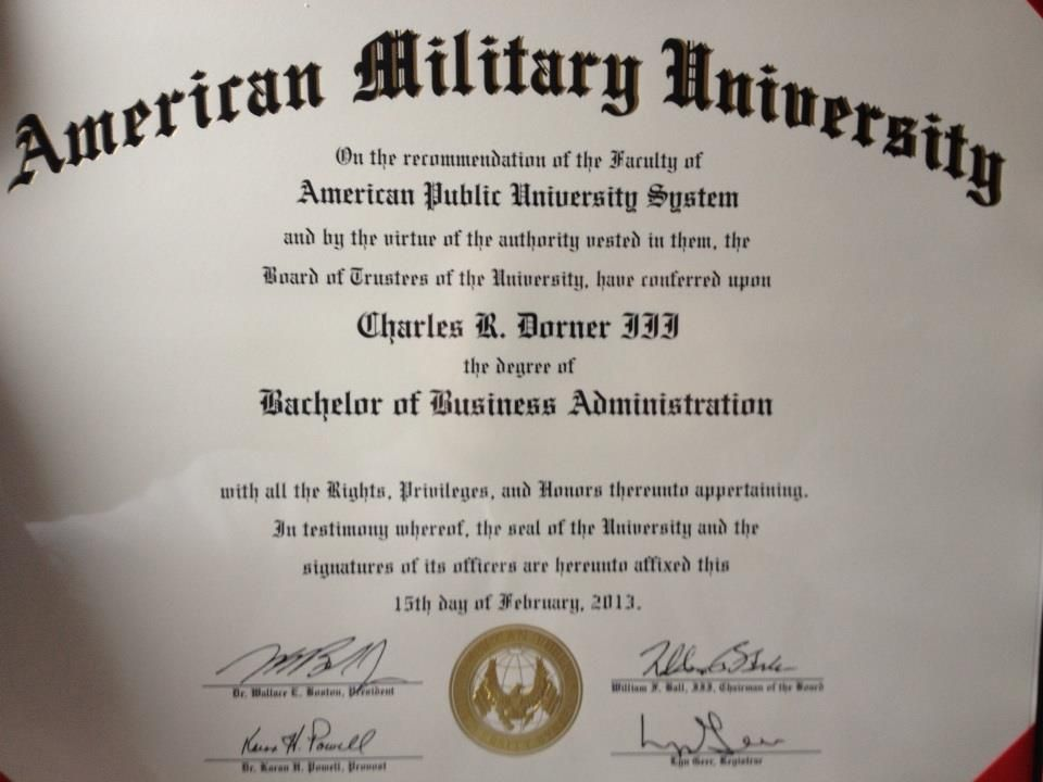 Charles Dorner, III, earned his Bachelor of Business Administration while serv…  Business