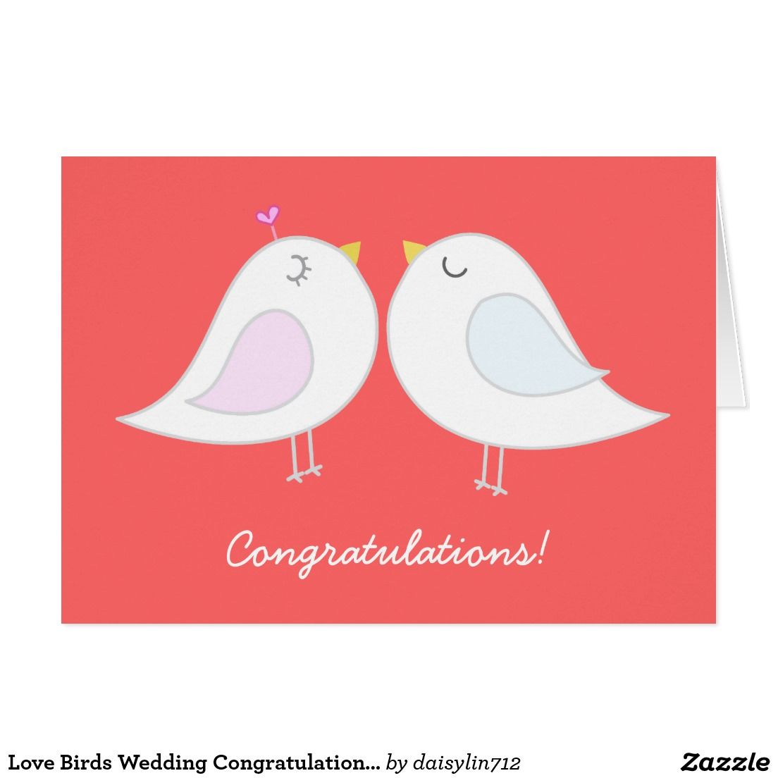 Love Birds Wedding Congratulations Card | Wedding and Engagement ...