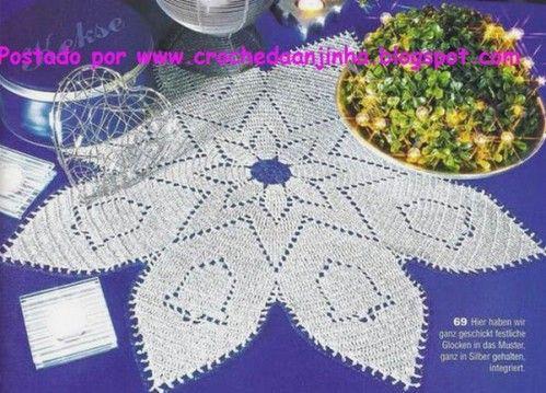 Deckchen Sterne Und Glocken Weihnachten Häkeln Crochet Handmade