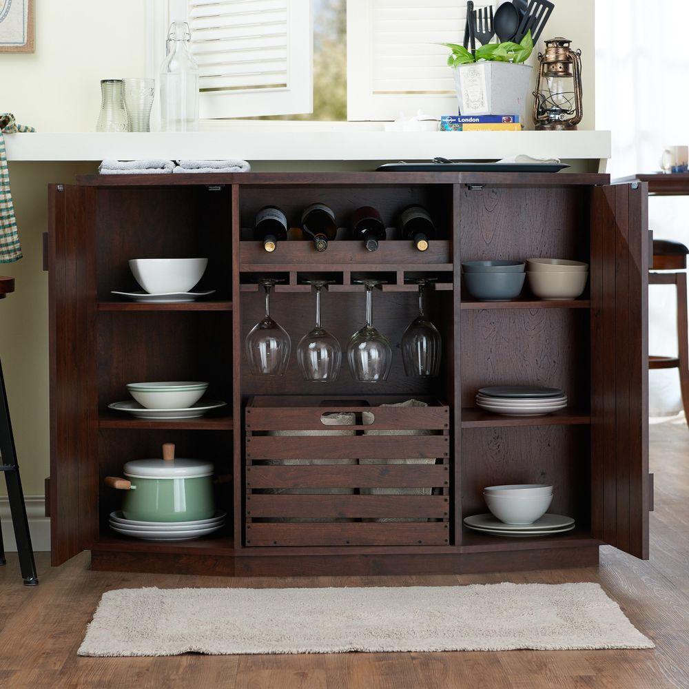 Buffet coffee server wine table crate bottle w