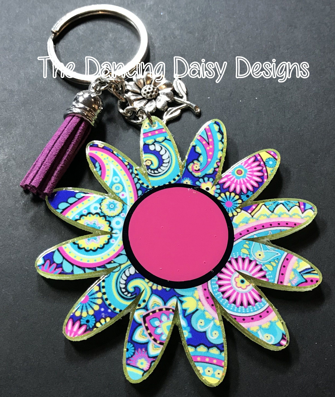 Daisy acrylic keychain keychain acrylic keychains
