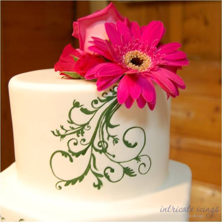 patterns for painted cakes | ... cakes hand painted wedding cake intricate icings cake design scroll