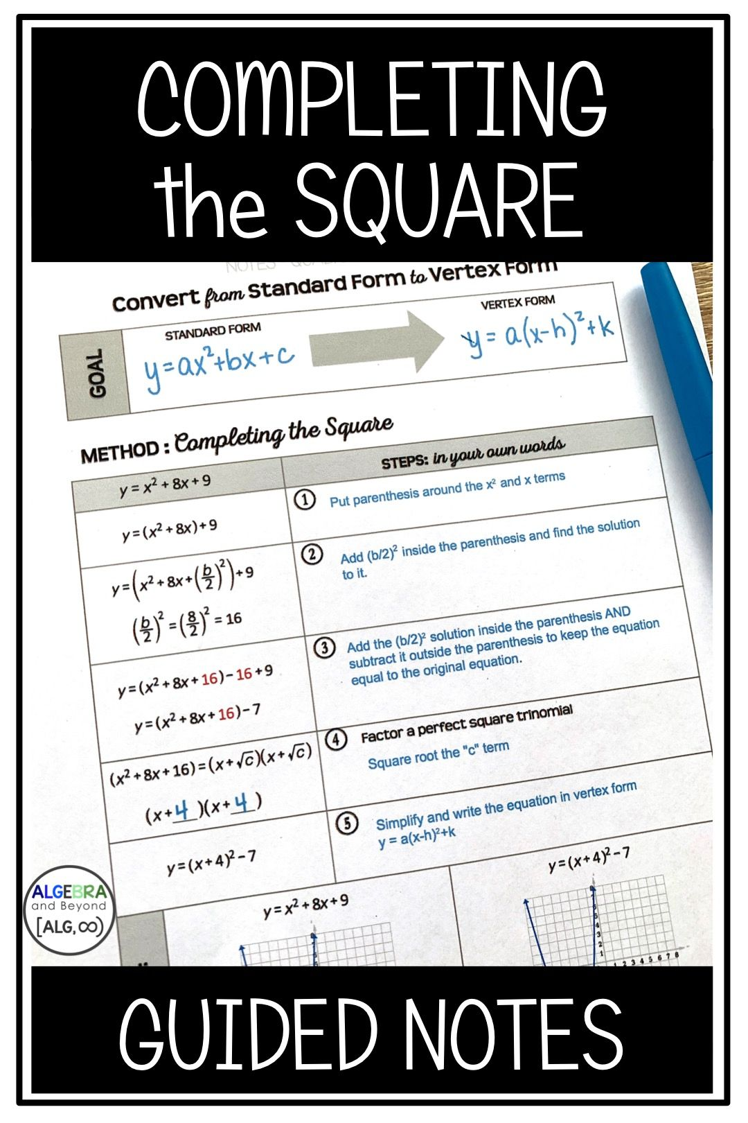 Completing The Square Can Be Confusing For Students This