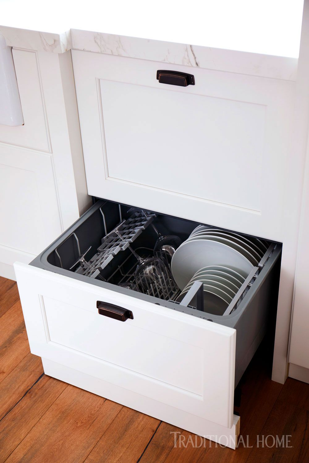 24 Inch Double Drawer Dishwasher Integrated Through Kitchen