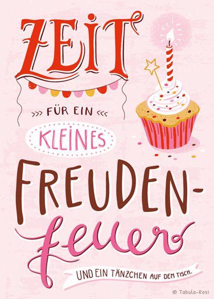 ILLUSTRATION Tabula Rosi Happy Birthday In German 18th Quotes