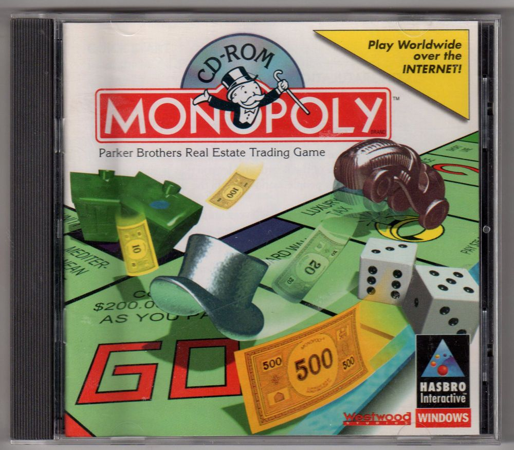 Monopoly (1995) (PC, 1997) Win 95 Hasbro Interactive (With