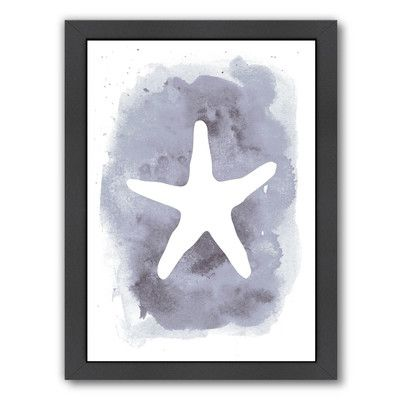 """Beachcrest Home Watercolor Starfish Framed Painting Print Size: 26.5"""" H x 20.5"""" W x 1.5"""" D"""