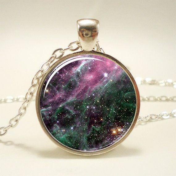 Galaxy Necklace Heavenly Nebula Pendant Stars