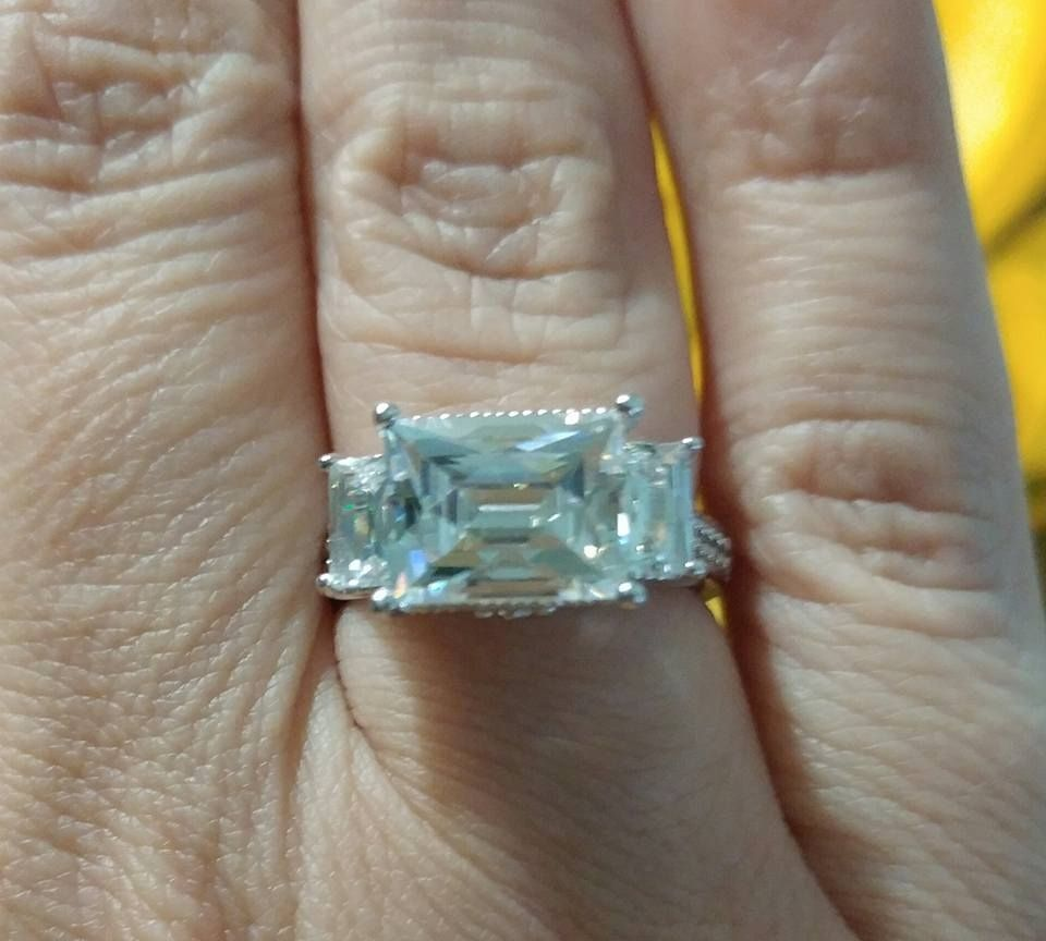 8768378a552c1 jtv bella luce solitaire rings | Ring | Rings, Solitaire ring ...