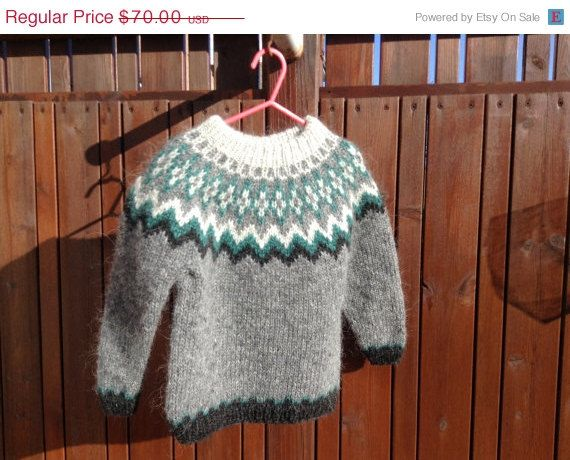 Icelandic Sweater Children Sweater Toddler Sweater Children