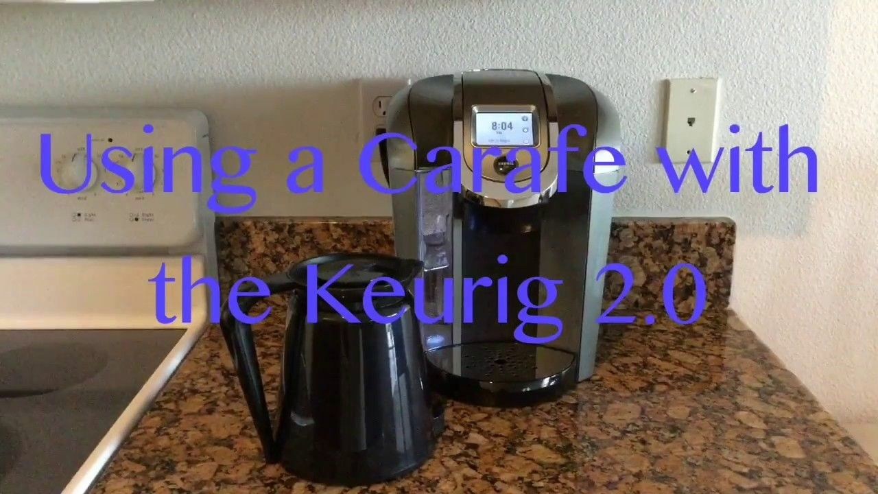 Using a Carafe with the Keurig 2.0 Keurig, Keurig hacks