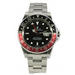 Rolex Pre-Owned Men's GMT2 Black and Red Bezel 16710