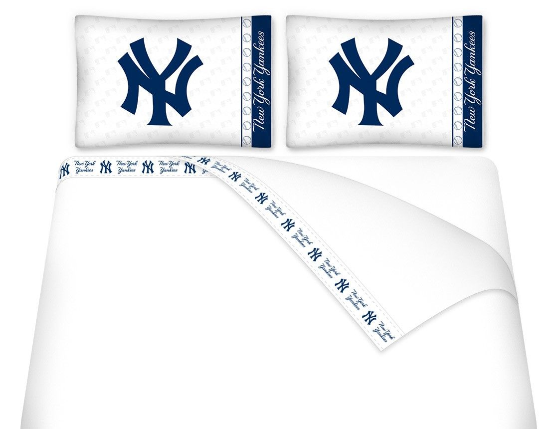 New York Yankees Mlb Twin Full Queen Bed Sheet Set New York Yankees Yankees Mlb Twins