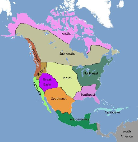 About geography and chronological periods in Native American art
