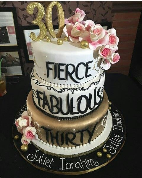 Cake Images For 30th Birthday : See..... Juliet Ibrahim Massive 30th Birthday Cake Made In ...