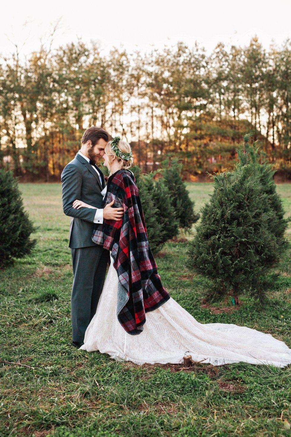 Winter Christmas Tree Farm Elopement Amilia Photography Nashville Wedding Photographer Nashville Wedding Nashville Wedding Photographers Farm Wedding