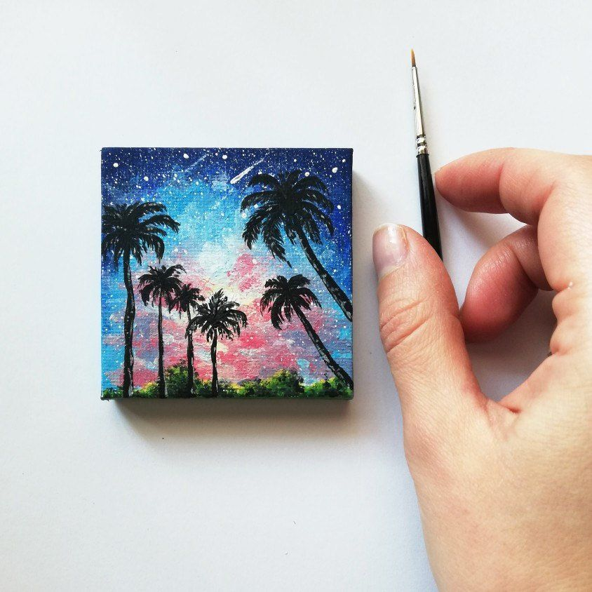 Hello And Welcome Back I Hope You Enjoy This Video Of The Aurora Lights In A Dreamy Sky Painted On Small 4x4 Canvas Can Now Digital Print