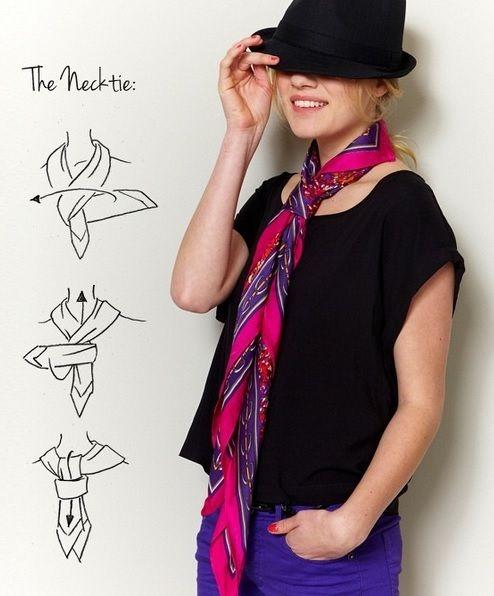 comment nouer mettre porter foulard en cravate nouer. Black Bedroom Furniture Sets. Home Design Ideas