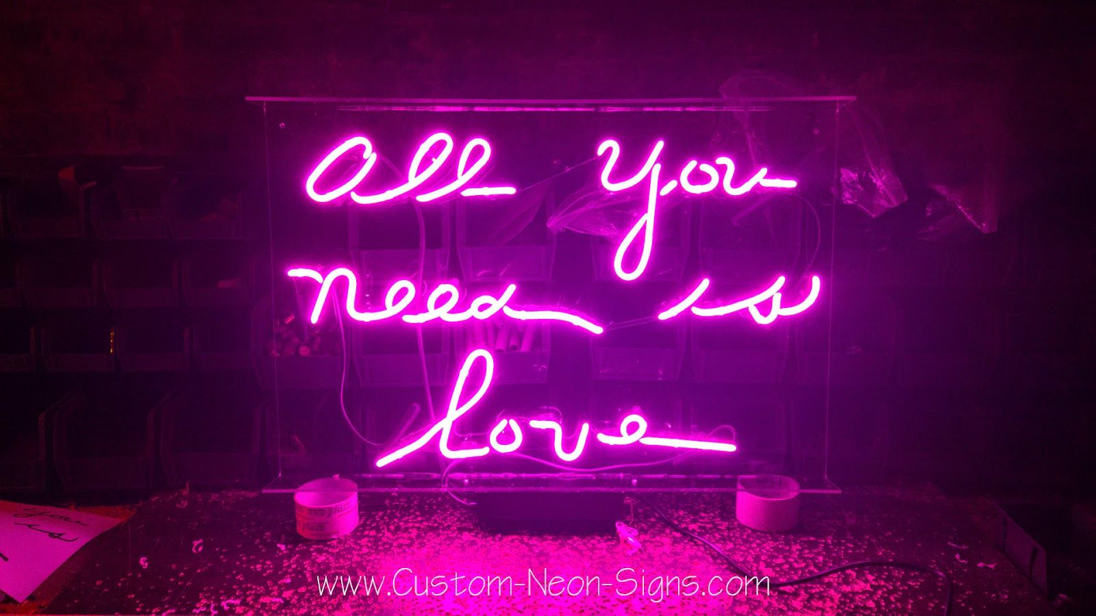 All You Need Is Love Neon Sign With Images Neon Signs Custom