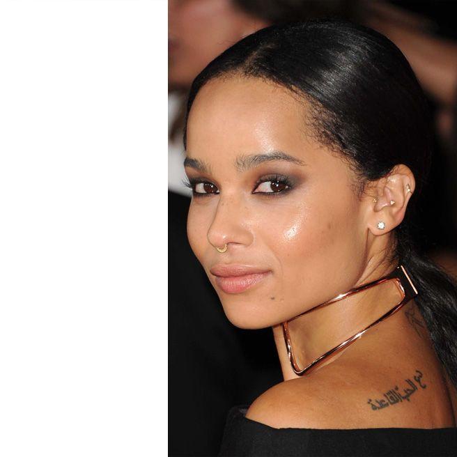 Zoe Kravitz Piercings: Shades Of Black Beauty: Natural