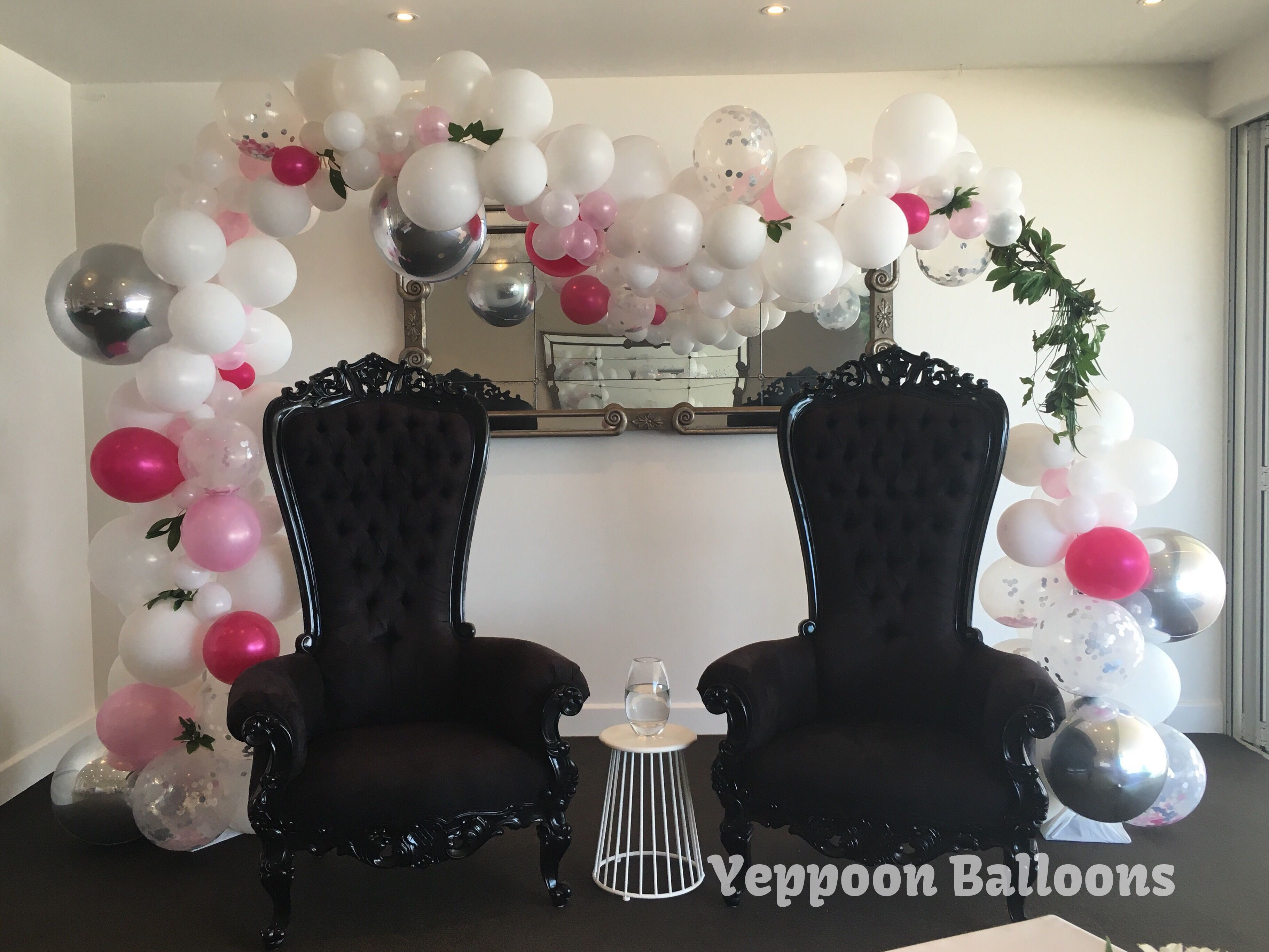 Balloon arch for wedding - Organic Arch Wedding Balloons Yeppoon Balloons