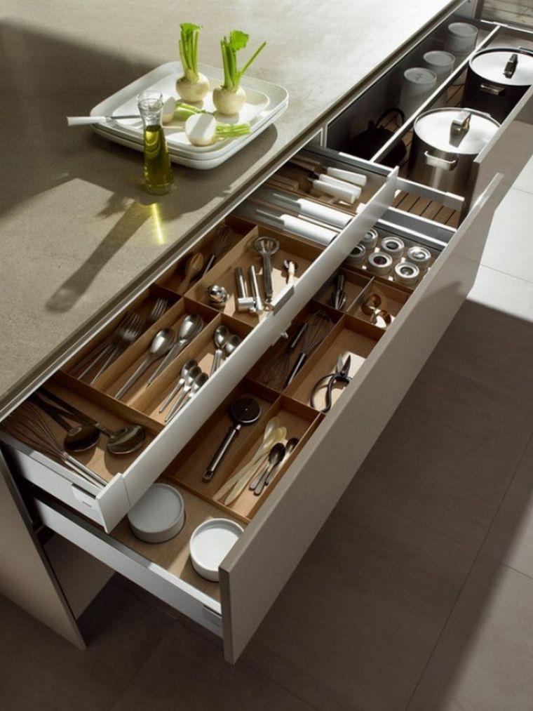 organizzare-la-cucina-cassetti-top-colore-grigio-posate-pentole ...